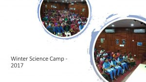 Winter Science Camp - 2017