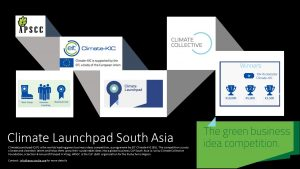 Climate Launchpad - An International Green Business Idea Competition